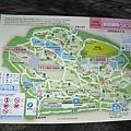 新宿御苑平面圖,也可向服務窗口索取中英韓文版