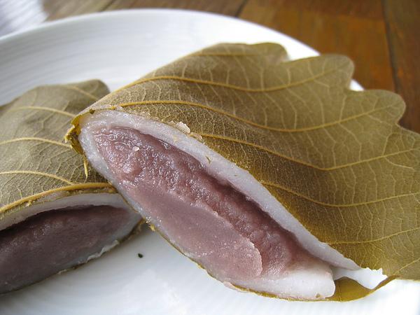 紅豆沙餡的柏餅