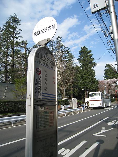 回程自吉祥寺站搭了12分鐘的公車到東京女子大學前站,