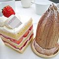 內用的三份內用甜點中,我最喜歡草莓奶油蛋糕(Gâteau Fraise/ガトー・フレーズ),500日圓