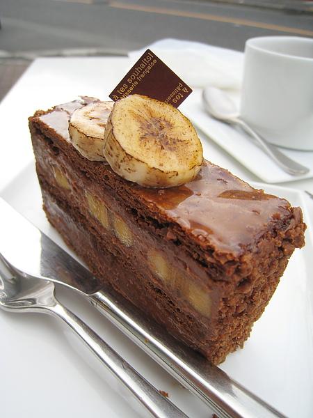 大白偏愛香甜濃郁的香蕉巧克力千層派(Mille-feuille Chocolat Banane/ミルフィーユ・ショコラ・バナーヌ)