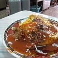 大白和我其實都不算很愛吃蚵仔煎,不過還是想嘗嘗看台南的有什麼不同