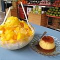 芒果牛奶冰和布丁