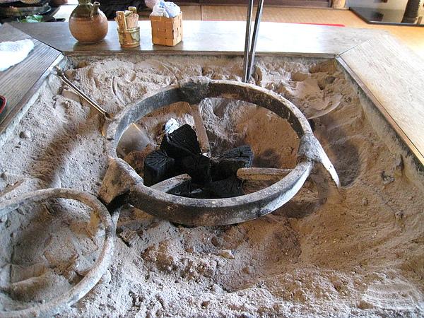 圓形部分是放火鍋的支架