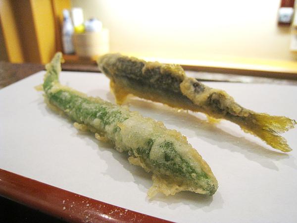 天婦羅之七&八:甜椒、香魚
