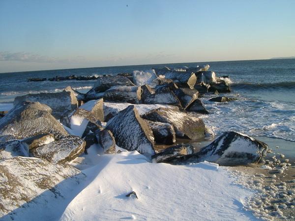 Coney Island海邊的積雪
