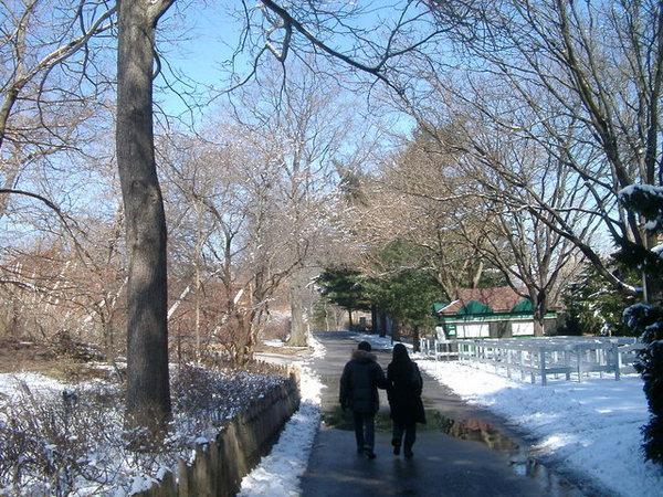 這張拍的好像老夫老妻漫步,可惜只是和一群哥兒們同逛動物園。唉