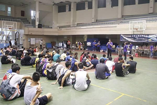 1030817阿蓮區團委會三對三籃球賽--比賽結束會長講話勉勵