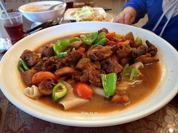 新北市-淡水區 新疆界手工麵館  大盤雞