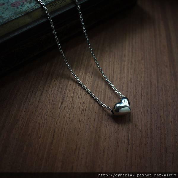 QQ糖果愛心長鏈 925純銀