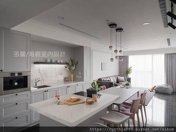 2餐廳現代簡約簡單中島輕食區餐桌水槽電熱爐開放式.jpg