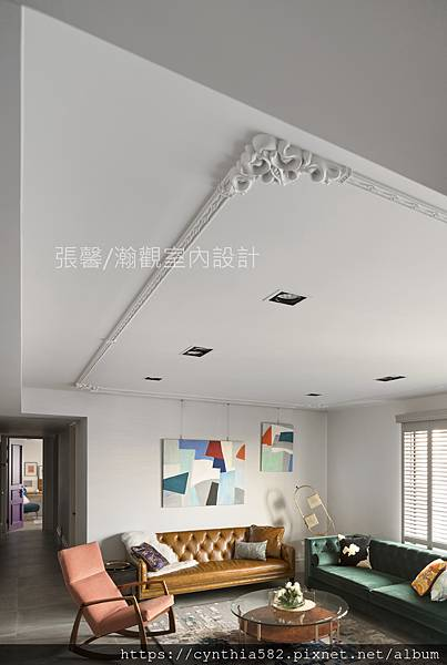 1客廳室內設計裝修裝潢美式現代古典挑花線條質感雅質雅痞.jpg
