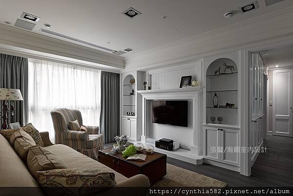 2鄉村客廳壁爐暖爐精緻美式優雅室內設計裝修裝潢.jpg