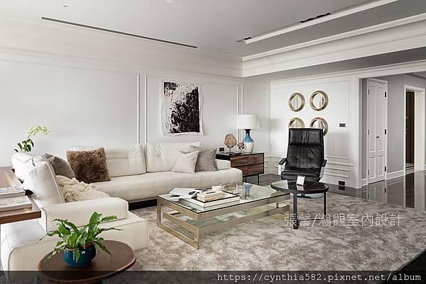 1客廳美式室內設計裝修裝潢張馨精緻華麗大器多元現代古典.jpg