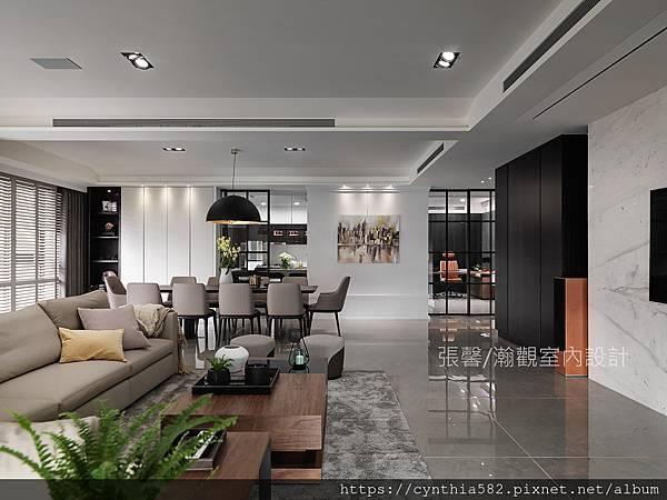 3張馨室內設計風格裝修裝潢地坪石材客廳美式風現代古典鄉村.jpg