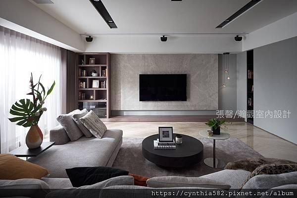 2張馨室內設計風格裝修裝潢地坪石材客廳美式風現代古典鄉村.jpg