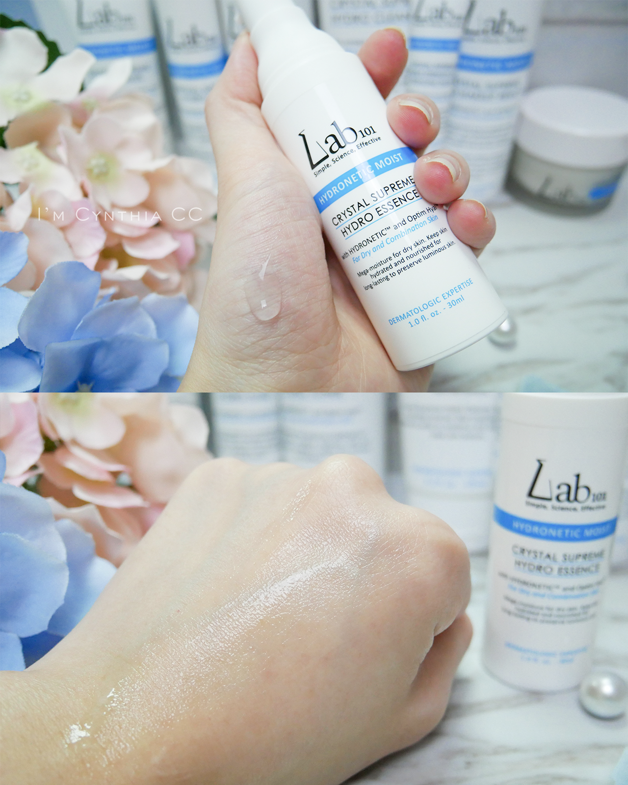 Lab101晶瑩精萃保濕精華和時空賦顏美肌膠原精華液