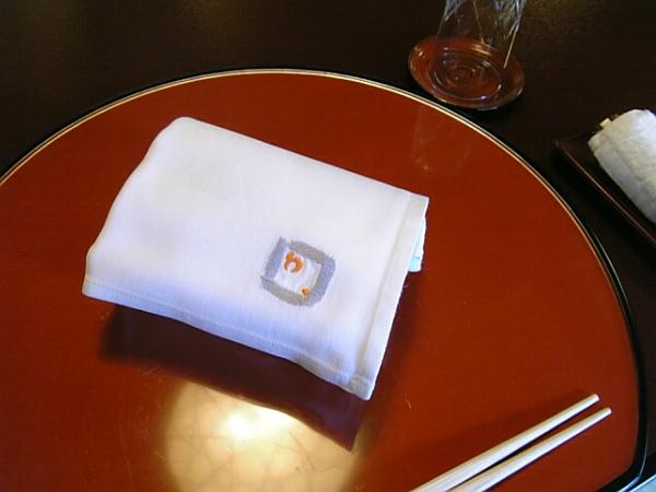 用餐前的毛巾