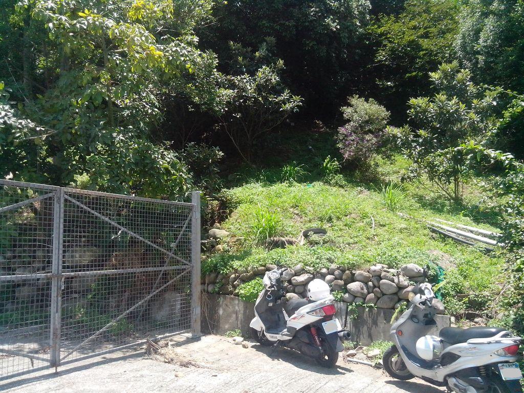 柵欄右側往上不明顯的階梯