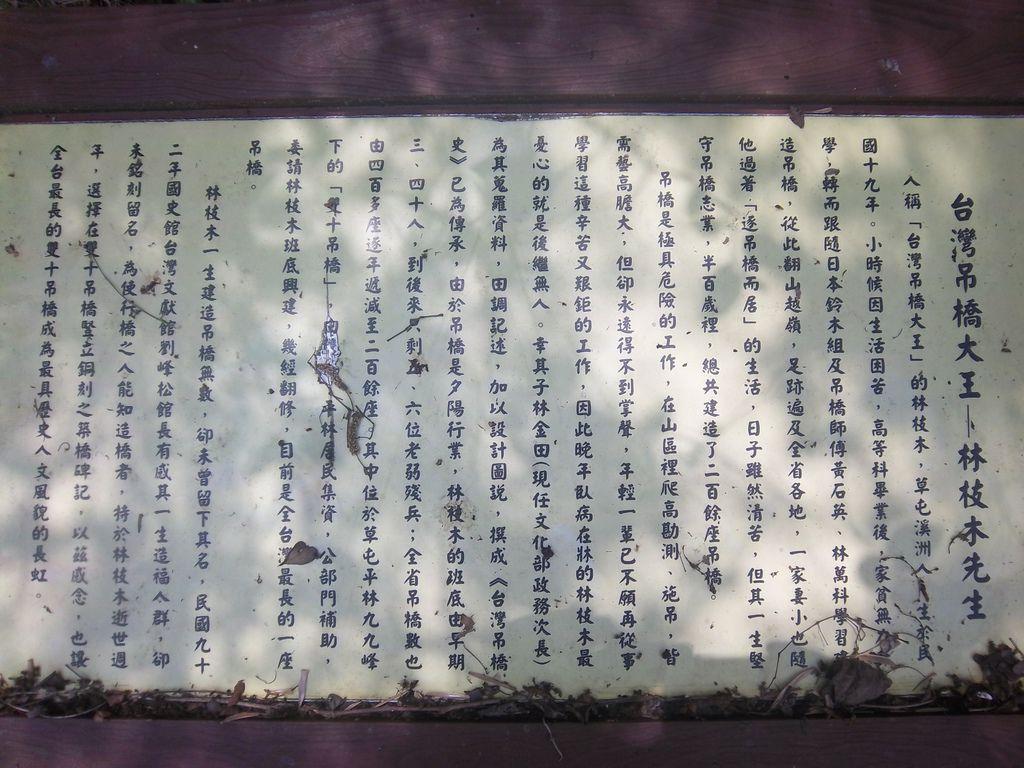 吊橋大王 林枝木先生