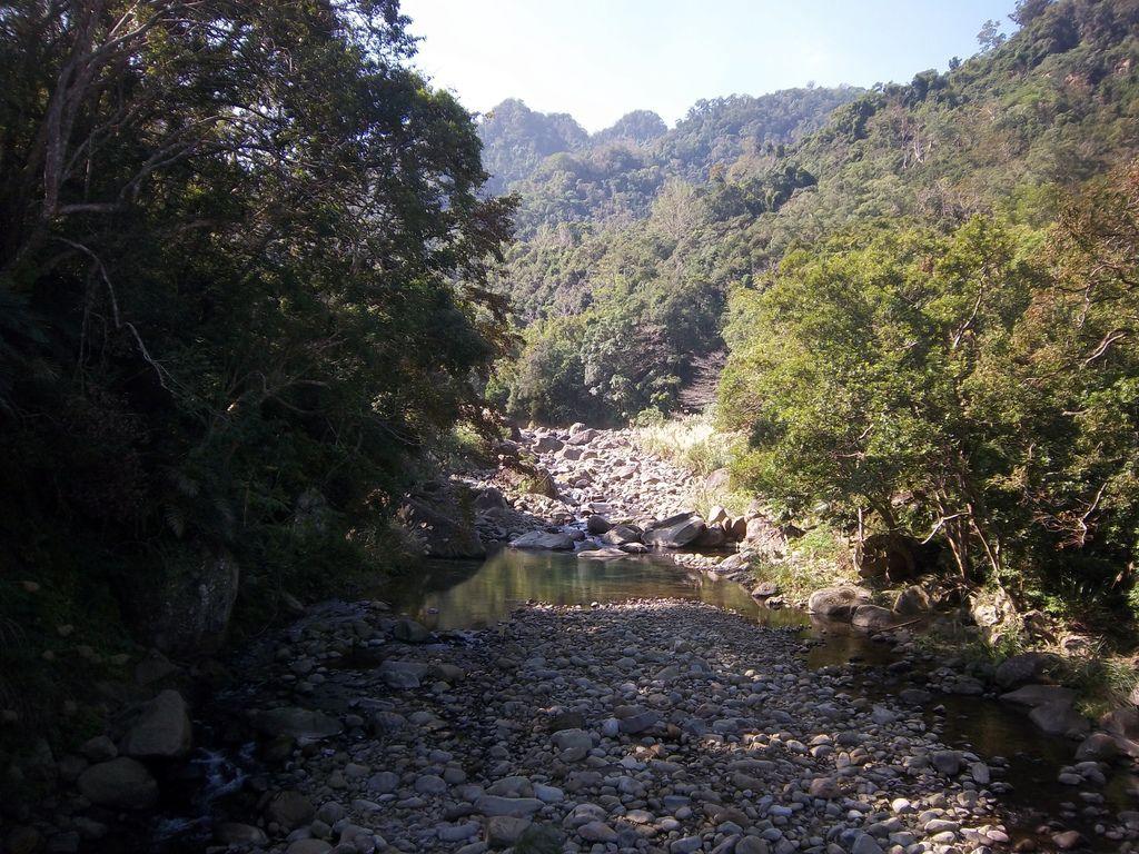 永安吊橋下 蓬萊溪(南河)