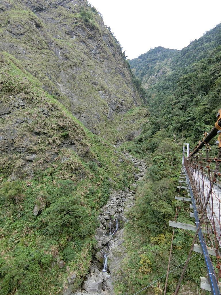 行豐吊橋旁溪谷