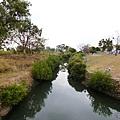 吊橋下人工河