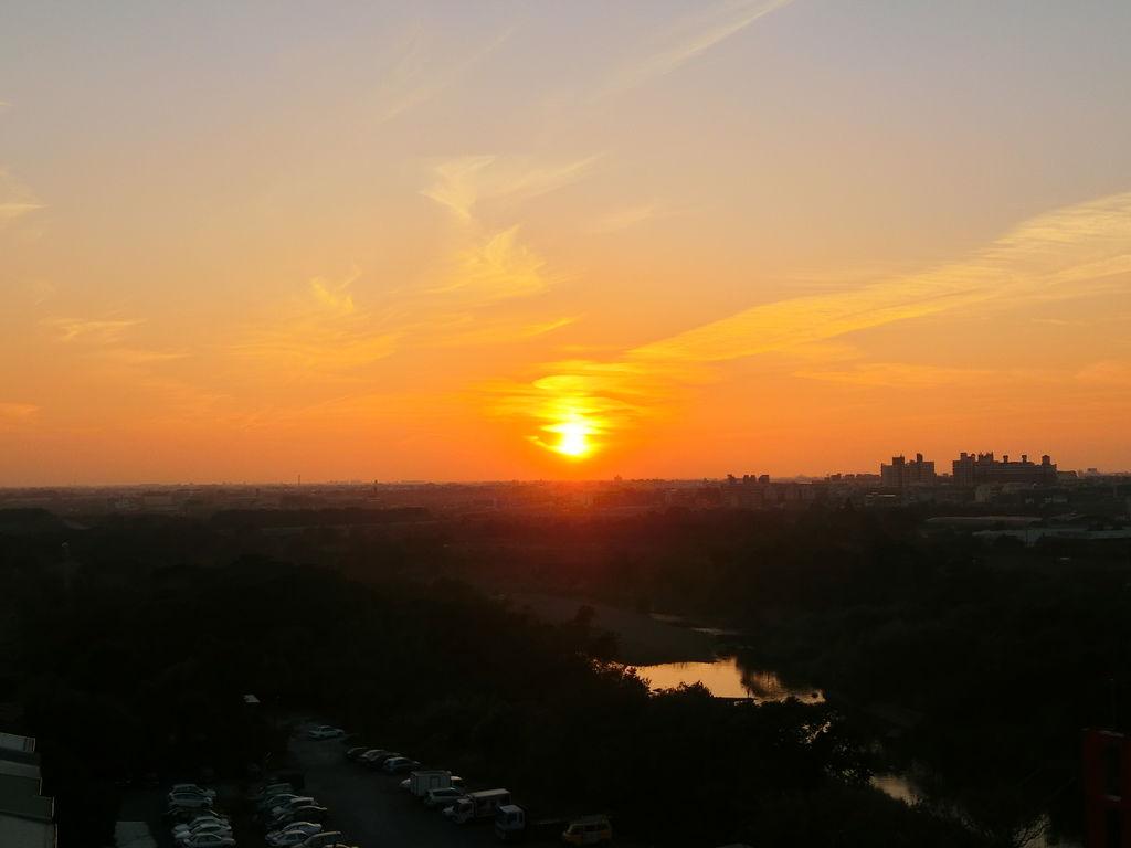 八掌溪夕陽