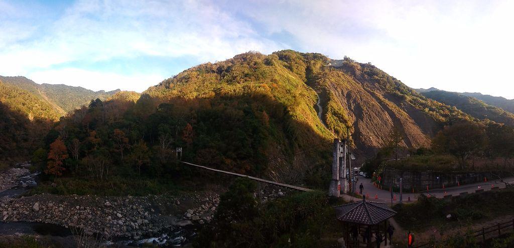 控溪吊橋周邊橫幅全景