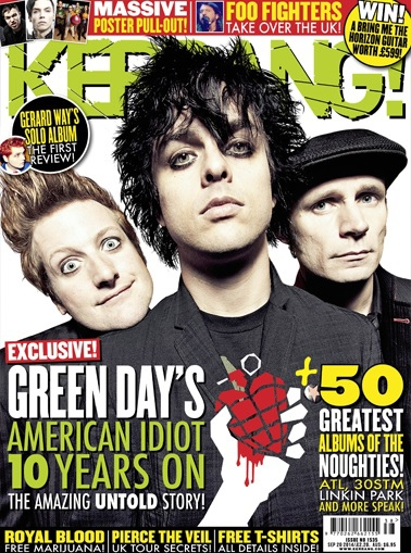 Green Day Kerrang cover