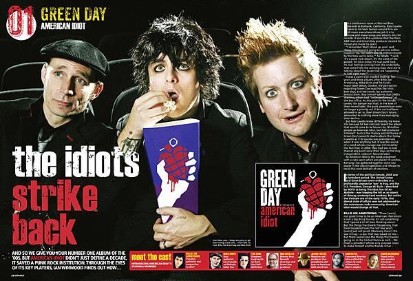 Green Day Kerrang page