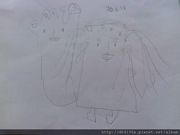 用腳印畫人物2013年12月