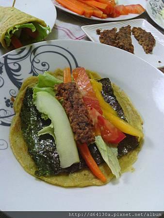 海苔蔬菜捲