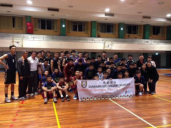 新加坡德能中學來台移地訓練與大安國中籃球隊交流
