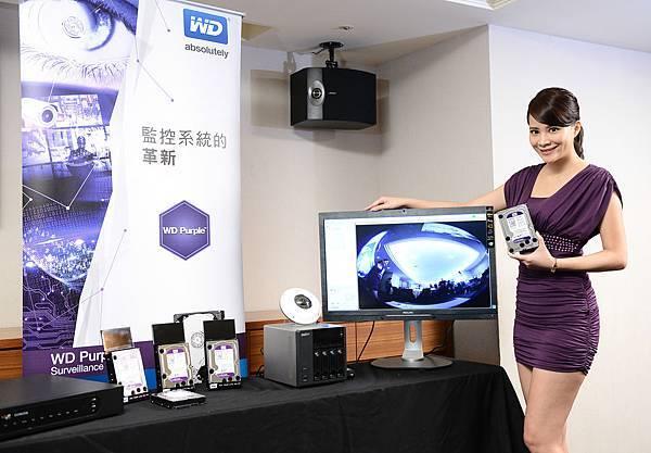 圖說四:WD Purple 硬碟是專為監控系統所設計,最適合用於硬碟數量在8顆以內的新建或現有家用及小型企業的保全環境,可支援高達32台的高畫質 (HD) 攝影機。