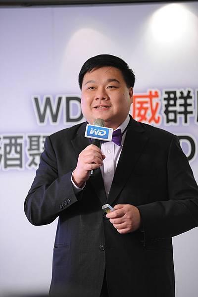 圖說三:WD亞太區行銷部總監羅昌平介紹WD最新監控系統級硬碟WD Purple