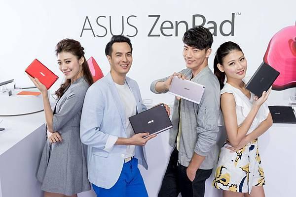 華碩ZenPad系列平板即日起陸續在台上市,要讓消費者搶先享受華碩平板最無與倫比的貼心應用。(產品由左至右依序為:ZenPad C 7.0、ZenPad 10、ZenPad 8.0、ZenPad S 8.0)