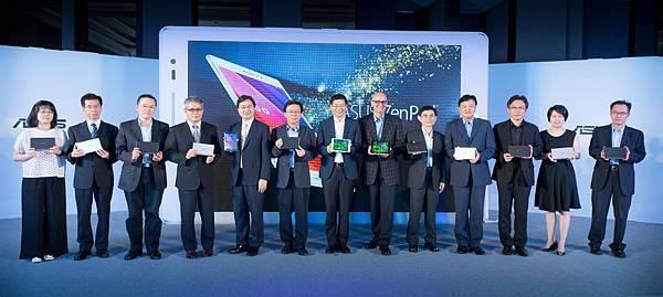 華碩今日舉辦ZenPad上市發表會,各家合作夥伴鼎力支持