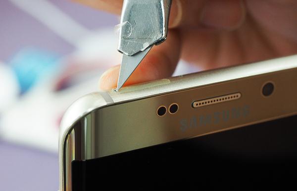 S6 edge plus 開箱、全機包膜、滿版保護貼-33