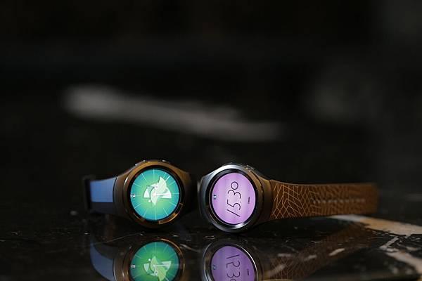Samsung Gear S2獨特、色彩繽紛的錶面設計,搭配超薄時尚錶帶