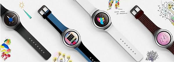 Gear S2以圓形美學經典設計,搭配多樣客製化介面顯示,彰顯個人風格與品味