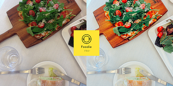 【圖二之四】「Foodie」提供24種食物濾鏡與絕佳角度的功能