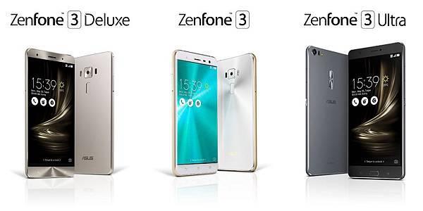 華碩今揭露全新ZenFone 3系列智慧型手機,包括:再次為行動時尚做出最新詮釋的ZenFone 3、旗艦機ZenFone 3 Deluxe及內建獨立4K電視等級影像晶片的ZenFone 3 Ultra。