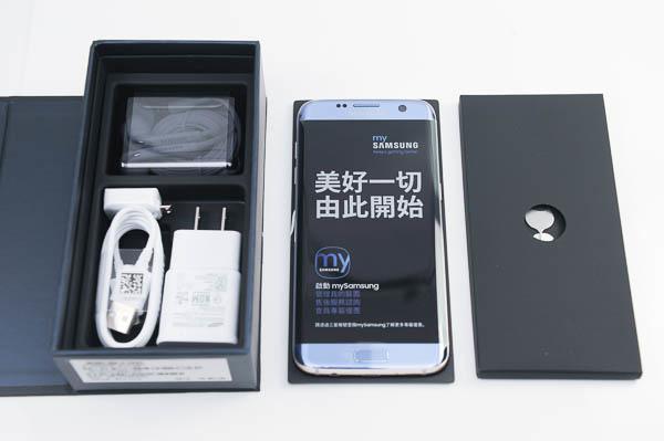 開箱 Galaxy S7 edge 冰湖藍-16