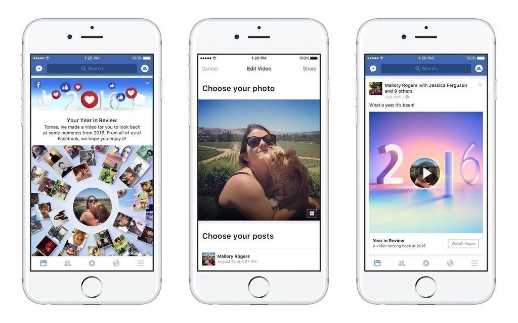 Facebook 2016你的年度回顧影片