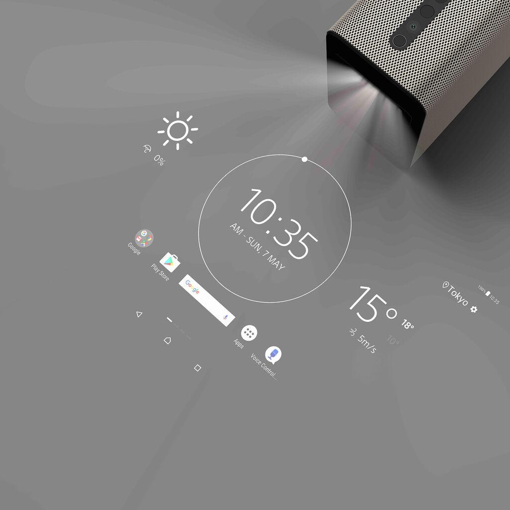 Xperia™ Touch互動式投影機,可將任何平面轉換為23吋HD觸控式螢幕;多點觸控回應使用者實際觸控及手勢,內建60 fps攝影鏡頭及紅外線即時感測,創造最佳觸控效果(2)
