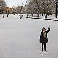 雪中小徑旁