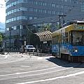 今天是來札幌第一次看到這裡的路面電車