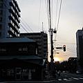 某天回宿舍路上的夕陽與街景