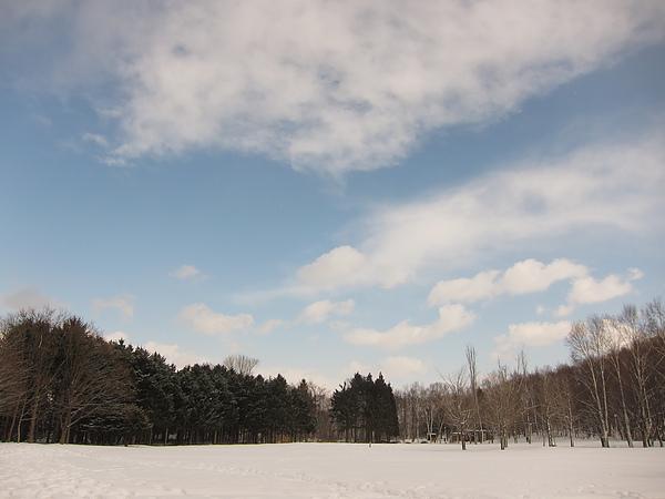 天氣超棒,時晴時雪